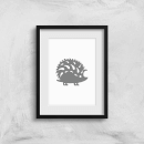 Folk Silhouette Hedge Hog Cutout Art Print