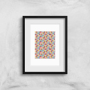 Funky Colourful Square Checkered Pattern Art Print