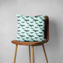 Black And Blue Bat Pattern Square Cushion