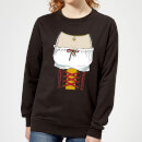 Oktoberfest Ladies Chest Women's Sweatshirt - Black