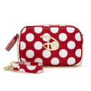 Loungefly Red & White Polka Dot Disney Logo Cross Body Bag