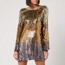 RIXO Women's Aria Dress - Bronze Ombre Sequin