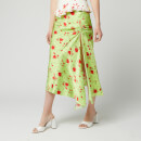 De La Vali Women's Caroline Midi Skirt - Green Rose