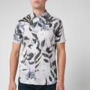 Ted Baker Men's Dudum Flower and Leaf Print Shirt - Lilac
