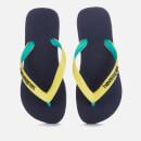 Havaianas Kids' Top Mix Flip Flops - Navy/Neon Yellow
