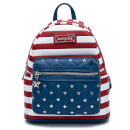 Loungefly Americana Quilted Mini Backpack