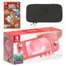Nintendo Switch Lite (Coral) LAYTON'S MYSTERY JOURNEY: Katrielle and the Millionaires' Conspiracy - Deluxe Edition Pack