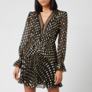 Self-Portrait Women's Dot Fil Coup Mini Dress - Black