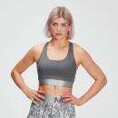 MP Women's Adapt Textured Sports Bra- Carbon - XXS
