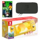Nintendo Switch Lite (Yellow) Luigi's Mansion 3 Pack