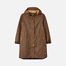 Joules Women's Rainwell Print Waterproof Raincoat - Tan Leopard