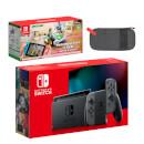 Nintendo Switch (Grey) Mario Kart Live: Home Circuit - Luigi Set Pack