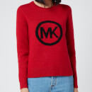 MICHAEL MICHAEL KORS Women's MK Metallic Sweater - Crimson