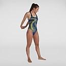 Damen Placement Powerback Badeanzug in Schwarz