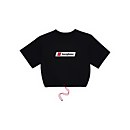 Women's Cropped Toggle Tee - Black