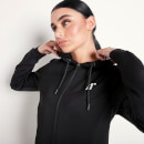 Women's Core Poly Track Top With Hood - Black