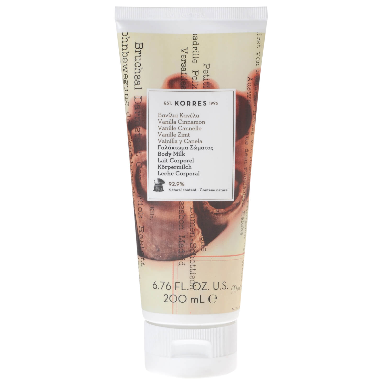 KORRES Vanilla Cinnamon Body Milk (200ml)