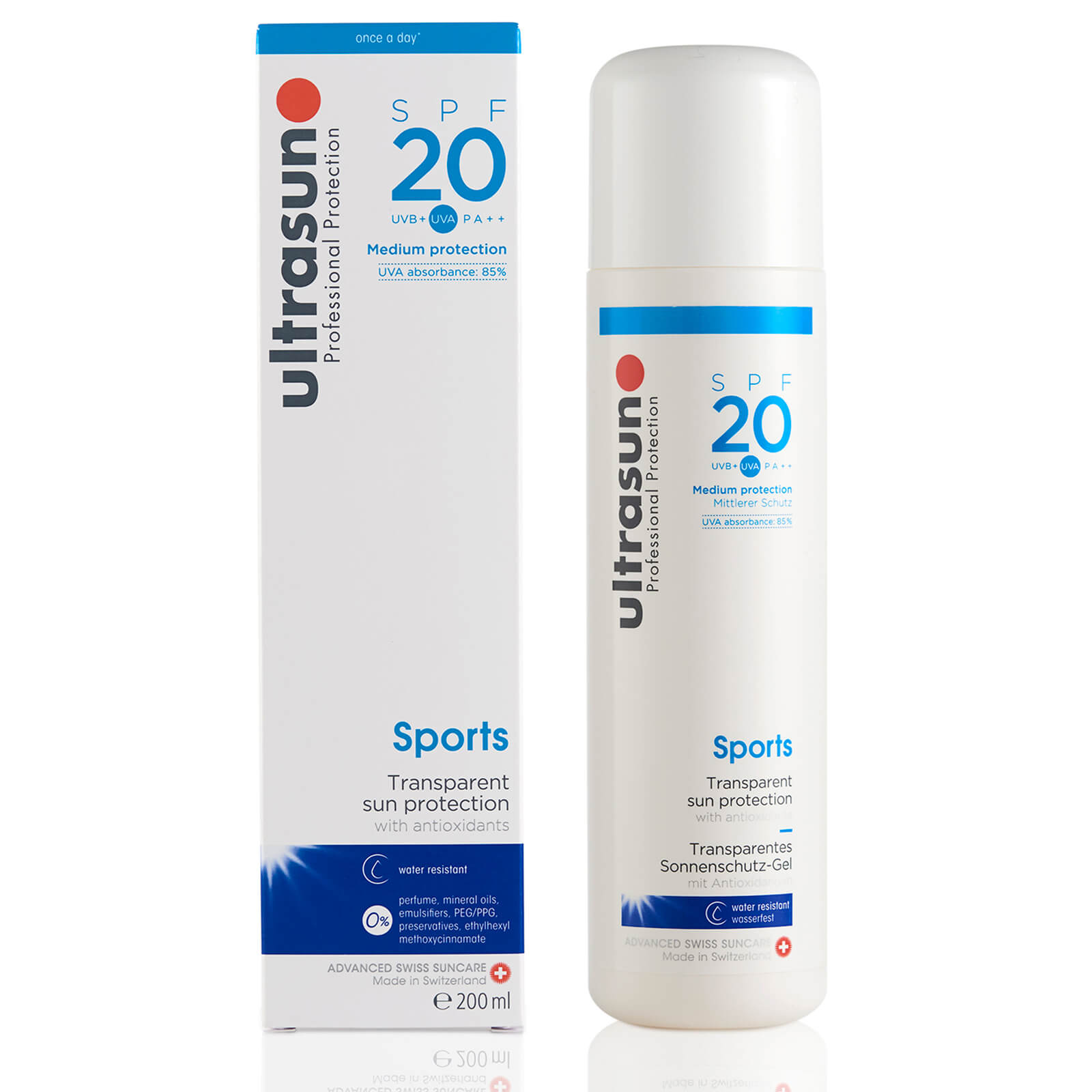 Ultrasun SPF 20 Sports Gel (200ml)