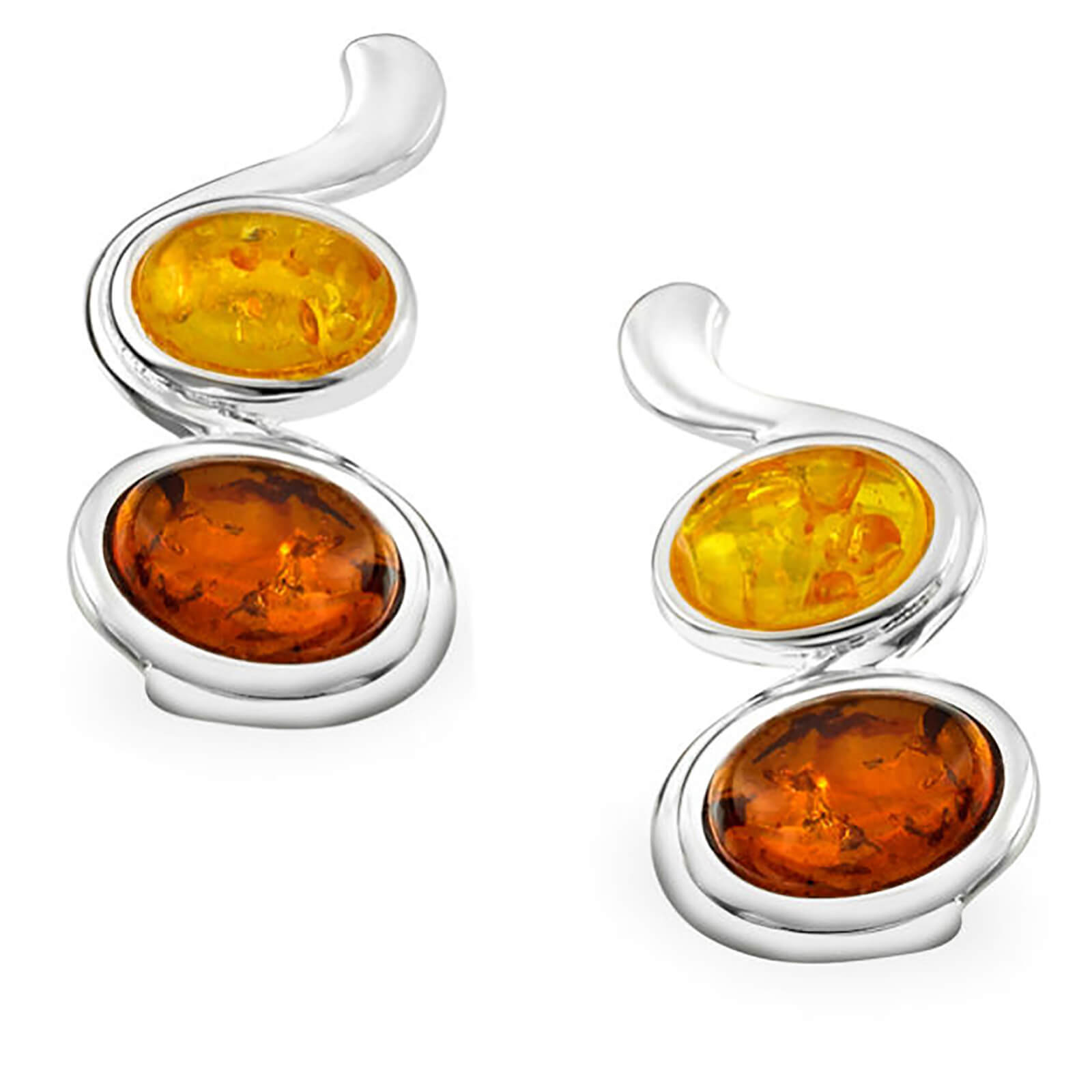 Amber Oval Drop Earrings