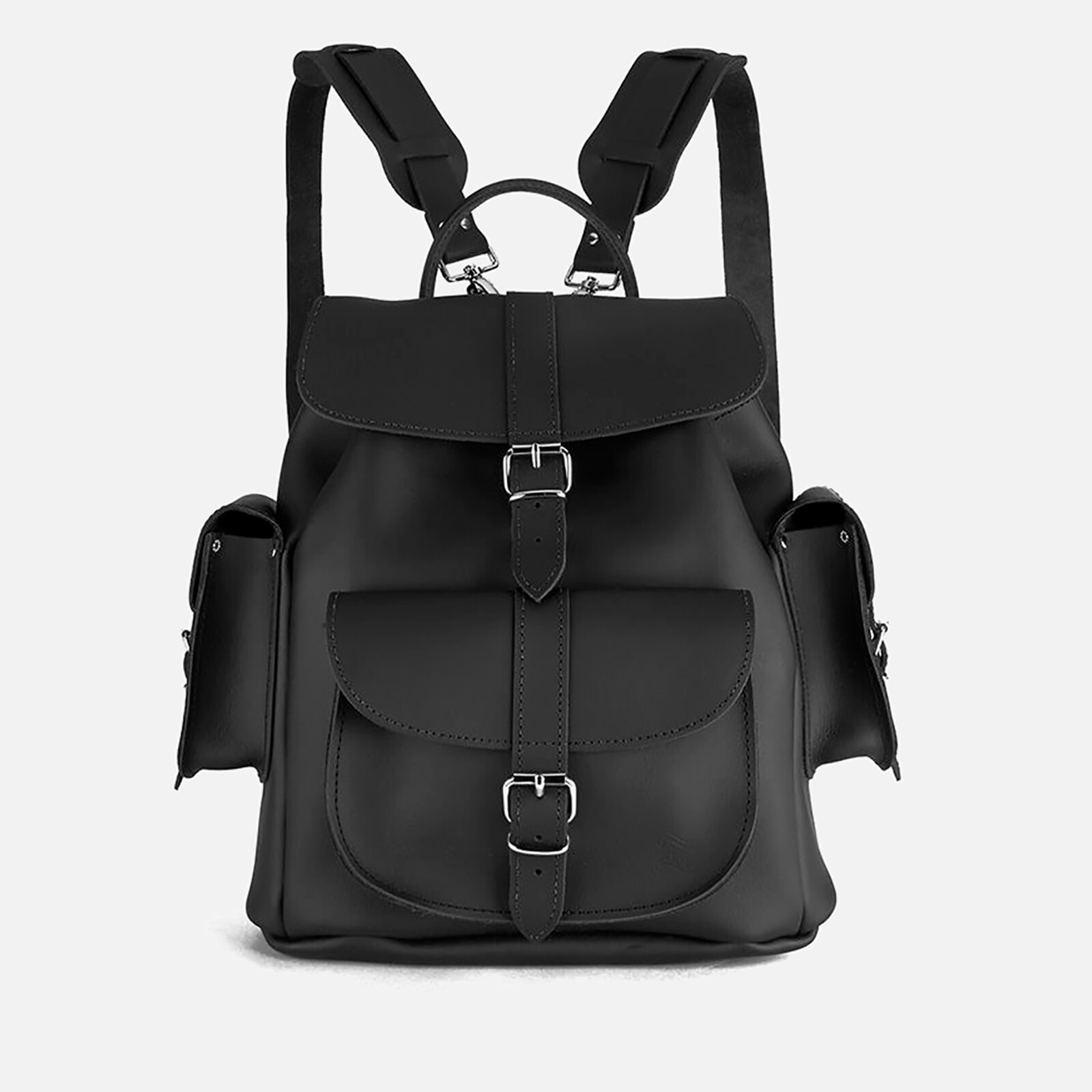 7906f56ed00d Grafea Show Business Medium Leather Rucksack - Black