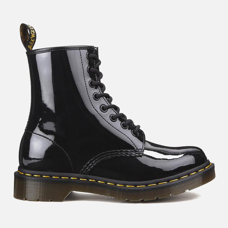 1460 Patent Lamper 8-Eye Boots - Black