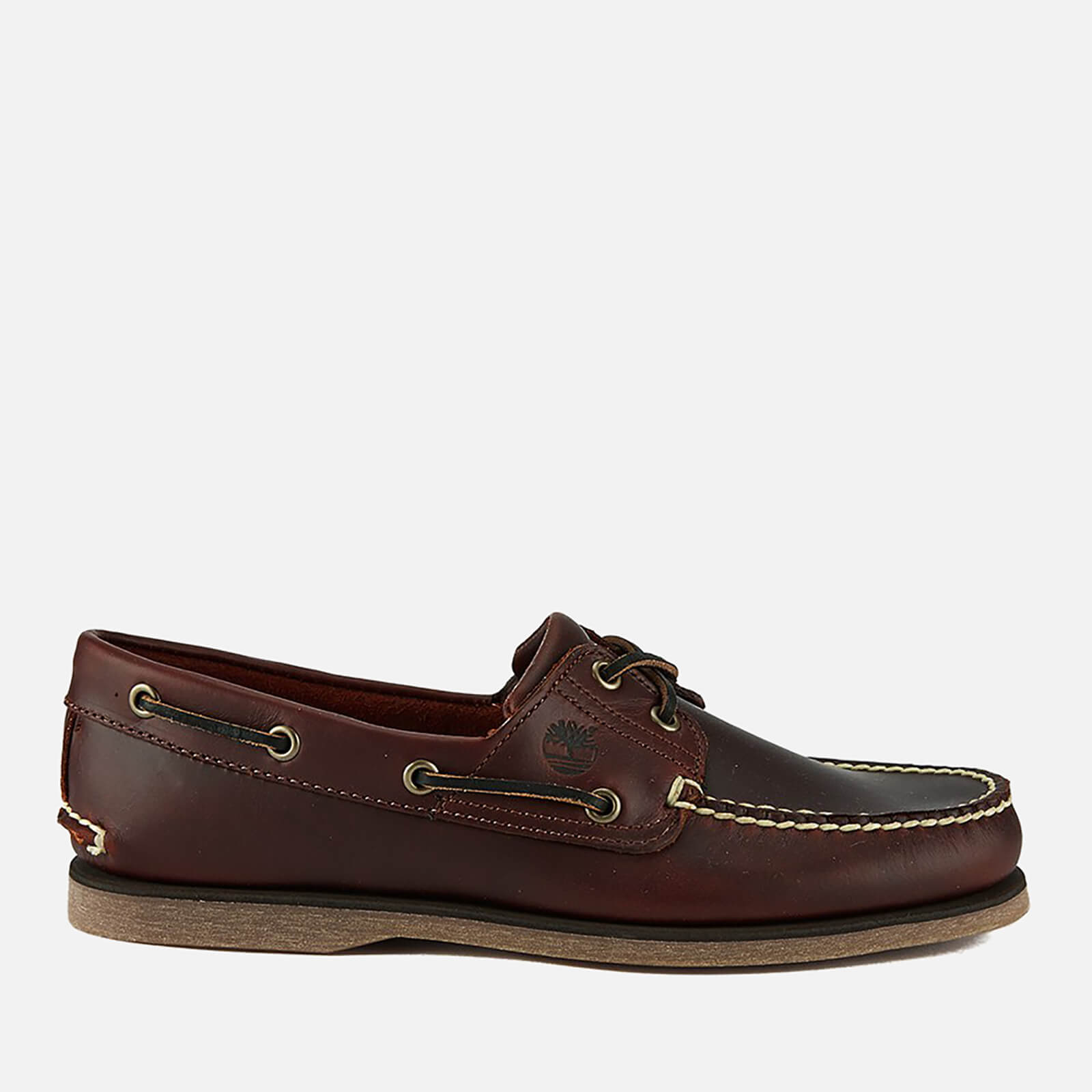 Timberland Men's Classic 2 Eye Boat Shoes Rootbeer Smooth