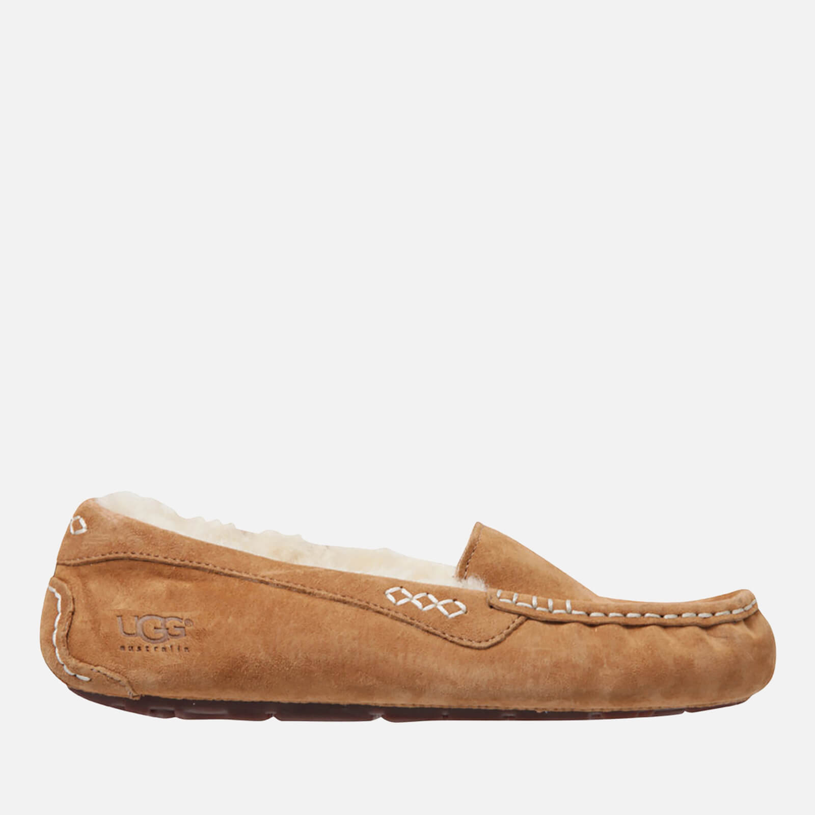 8d4fc4c6a UGG Women's Ansley Moccasin Suede Slippers - Chestnut - Free UK Delivery  over £50