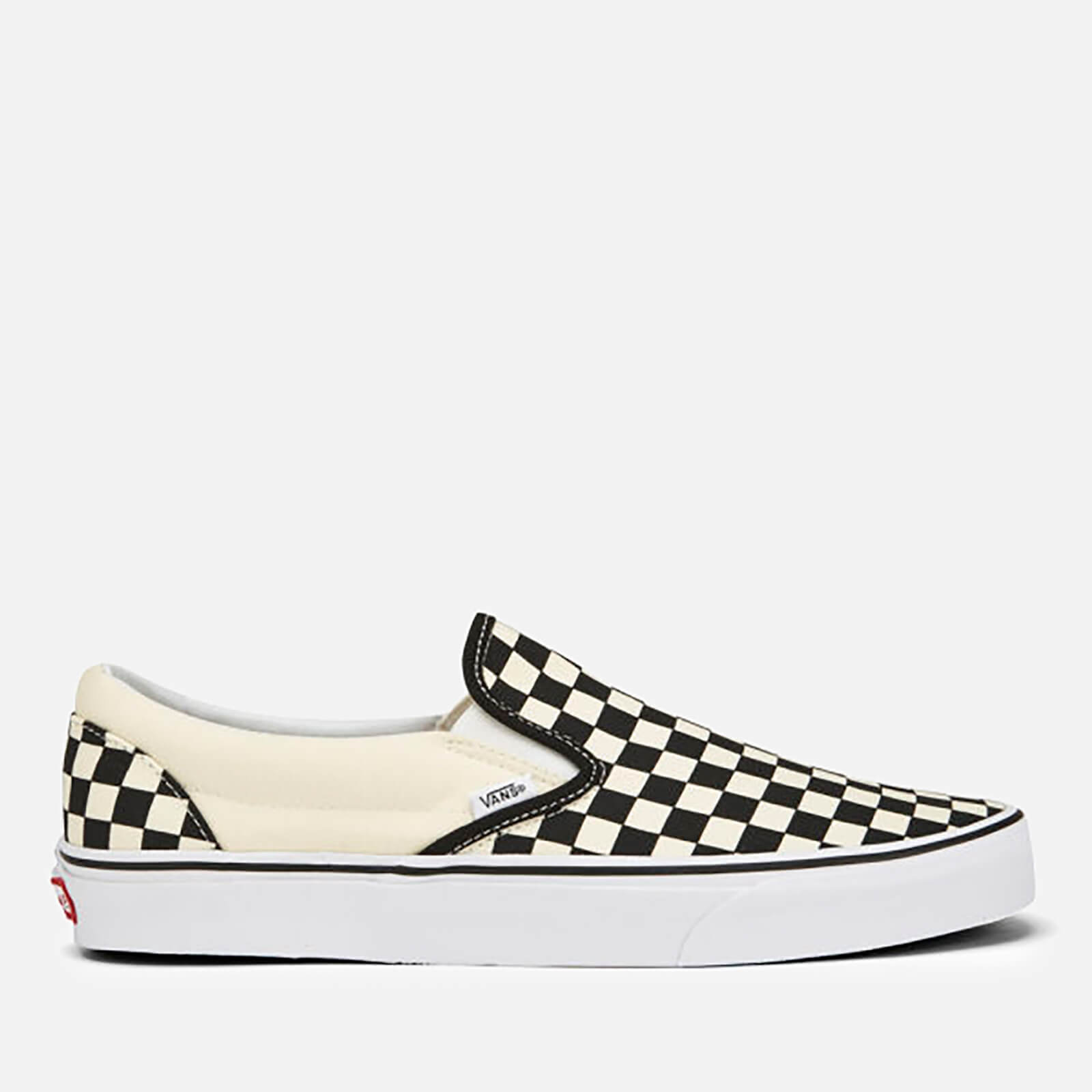 60a4ae08557a Vans Classic Slip-On Canvas Trainers - Black White Mens Footwear