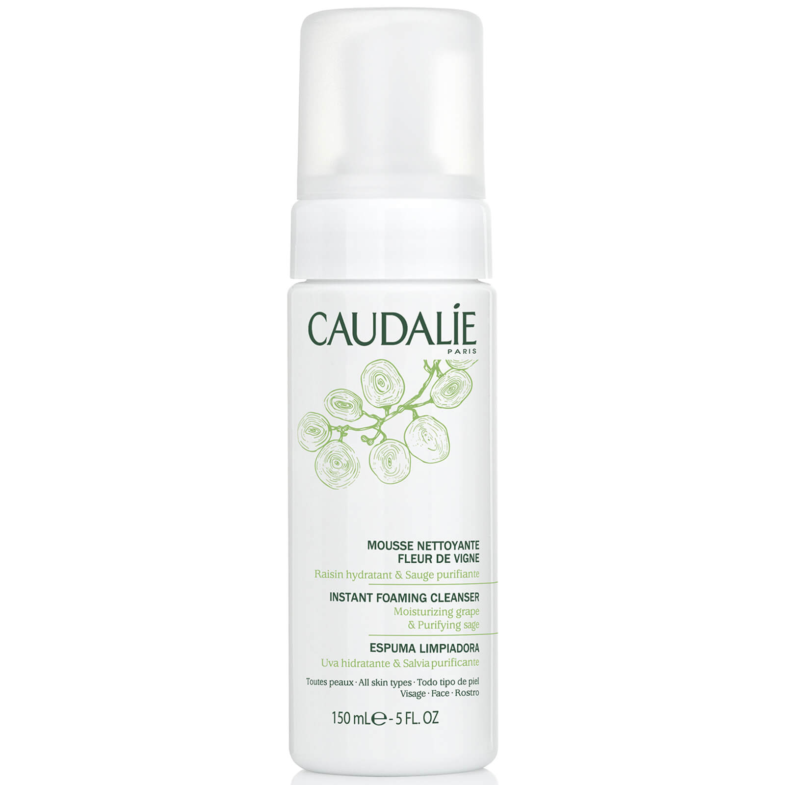 Caudalie Instant Foaming Cleanser 150ml Free Shipping Clean Clear Face Wash 100ml Description Refresh Your Skin With