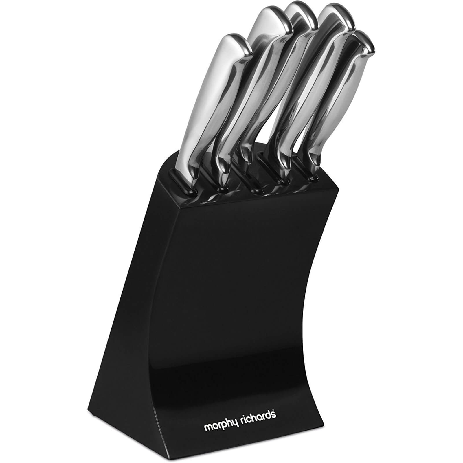 Morphy Richards 46290 5 Piece Knife Block - Black