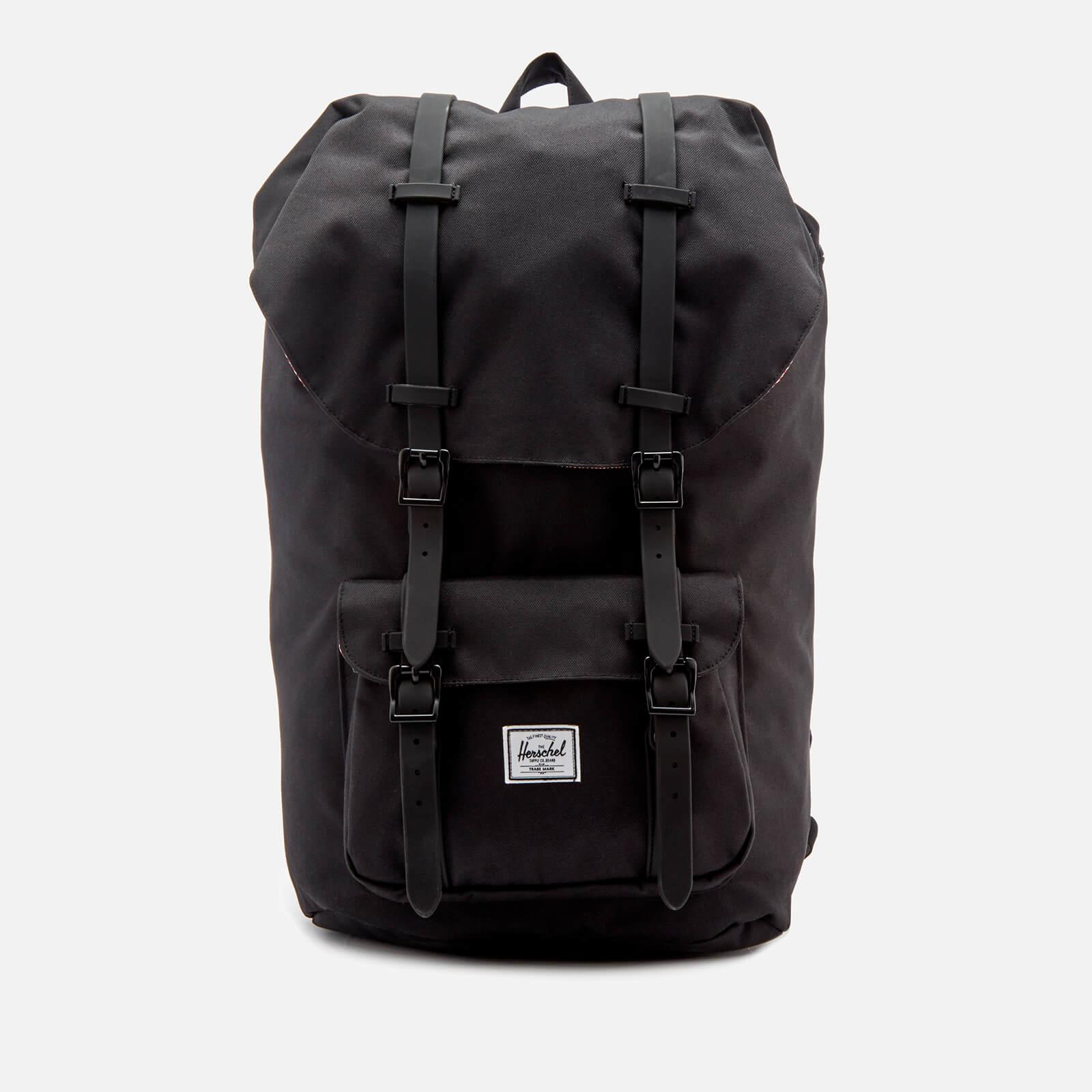86c97c860b3 Men s Little America Backpack - Black Rubber Herschel Supply Co. Men s  Little America Backpack - Black Rubber