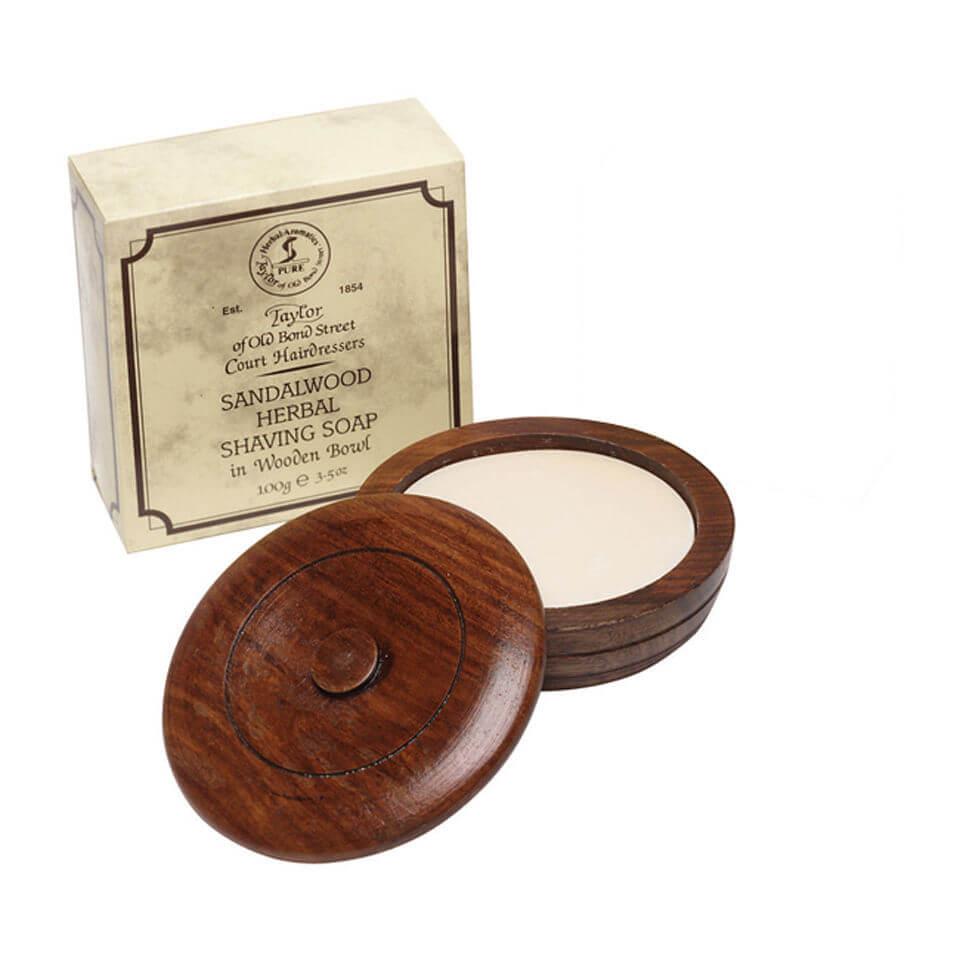 Ciotola in legno Taylor of Old Bond Street, comprensiva di Sapone da barba (100g)