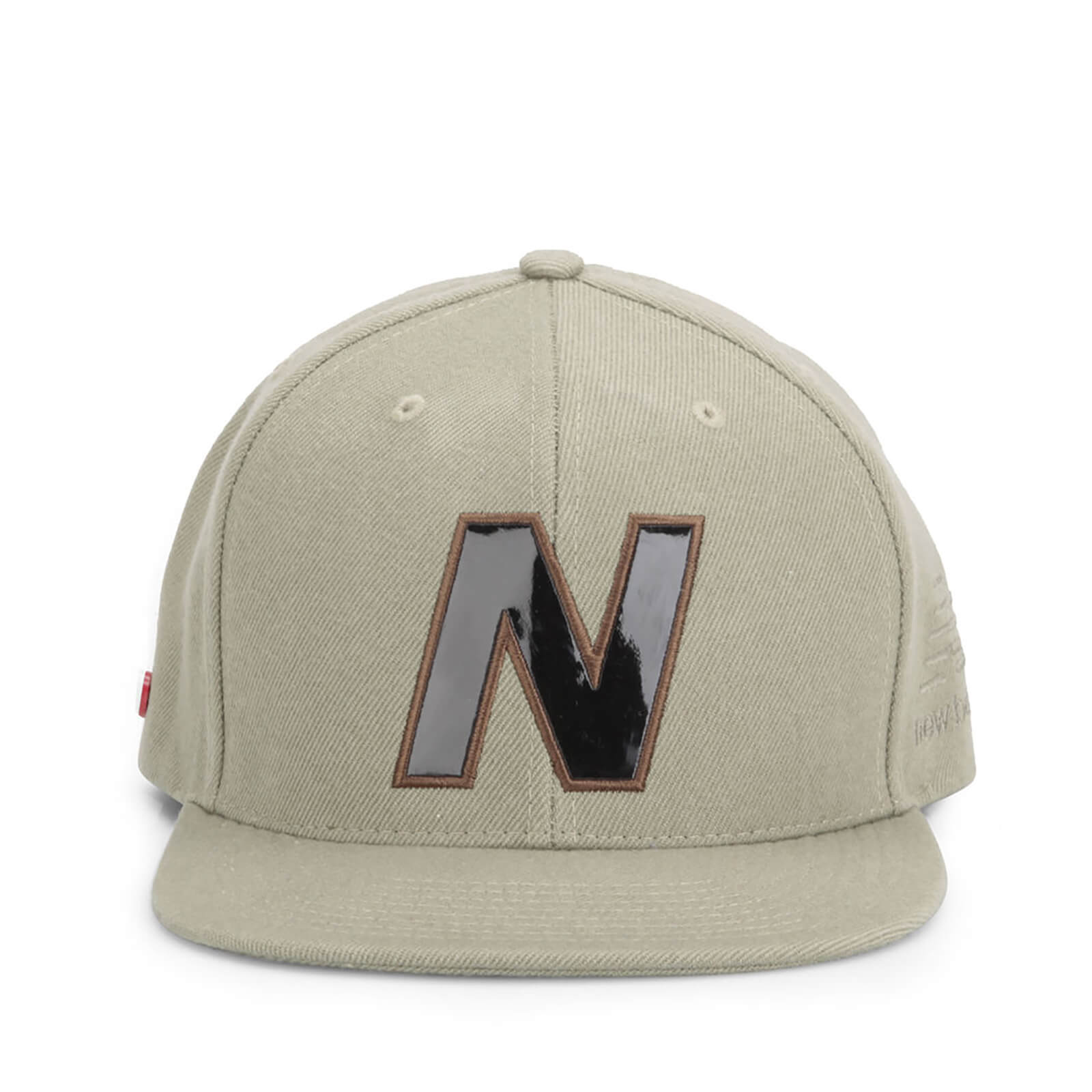 New Balance Unisex Snap 6 Panel Flat Peak Baseball Cap - Acrylic Light Brown/Khaki