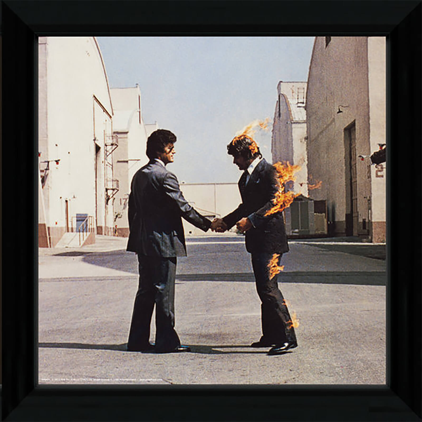 "Pink Floyd Wish You Were Here - 12"""" x 12"""" Framed Album Prints"