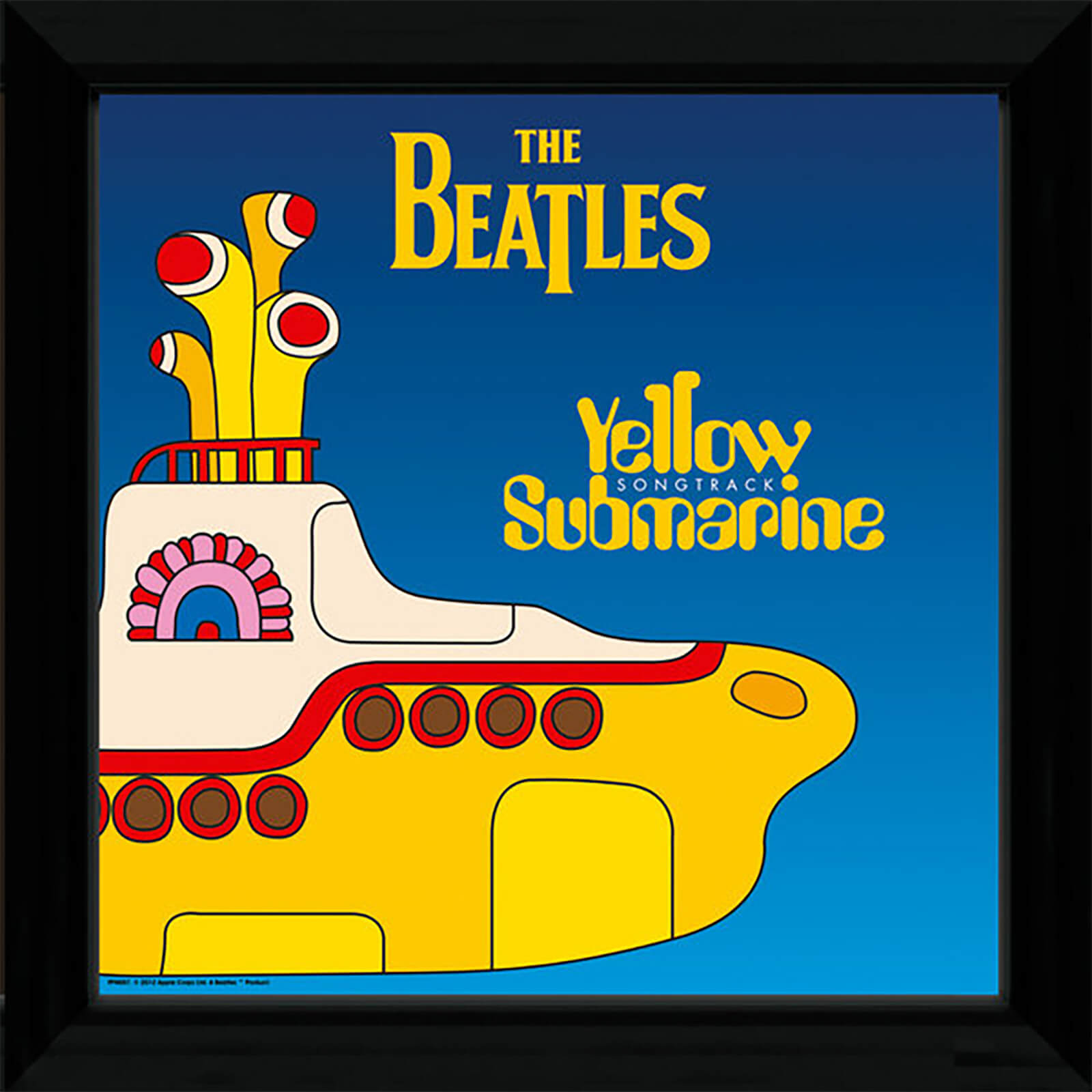 "The Beatles Yellow Submarine 1 - 12"""" x 12"""" Framed Album Prints"
