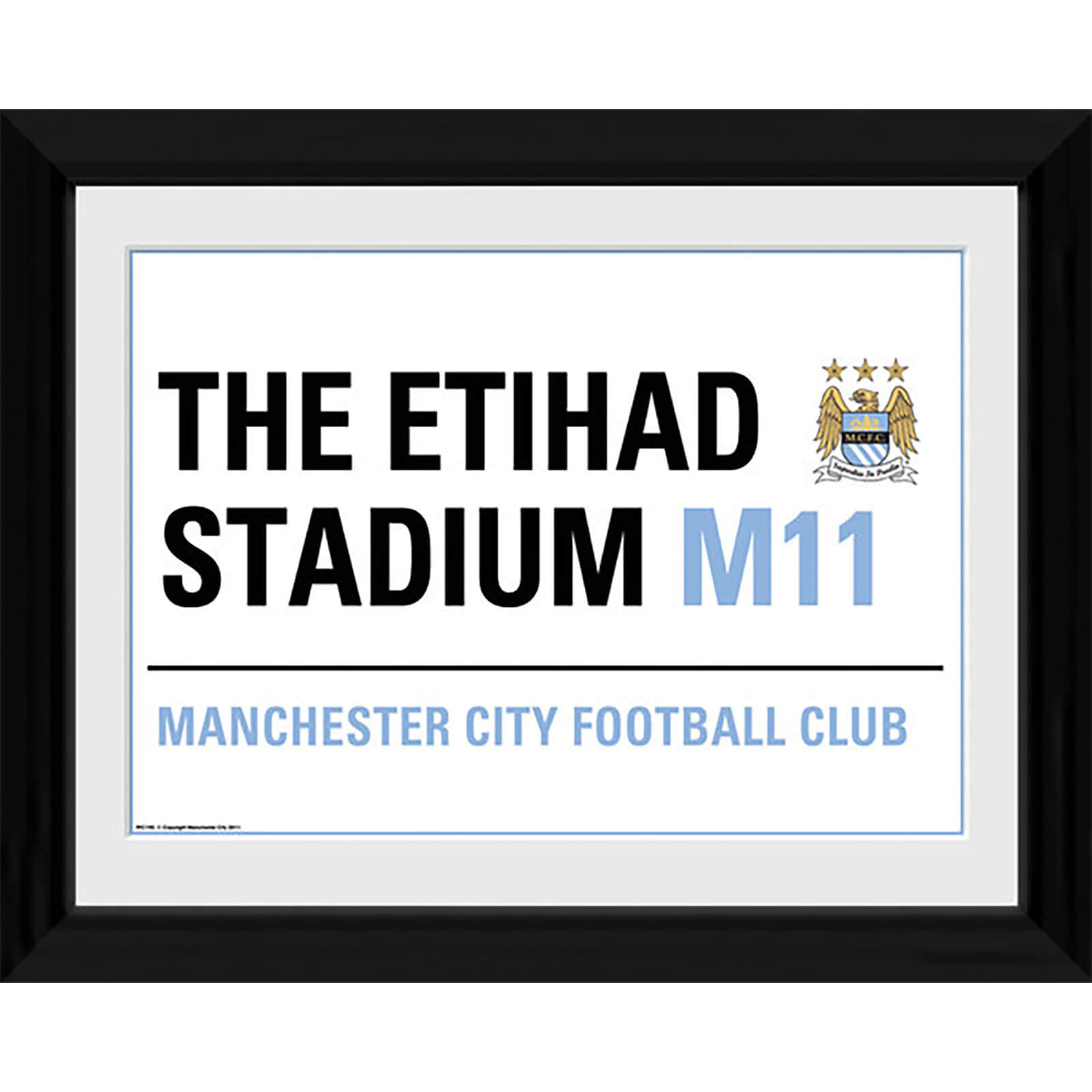 "Manchester City Street Sign - 16"""" x 12"""" Framed Photographic"