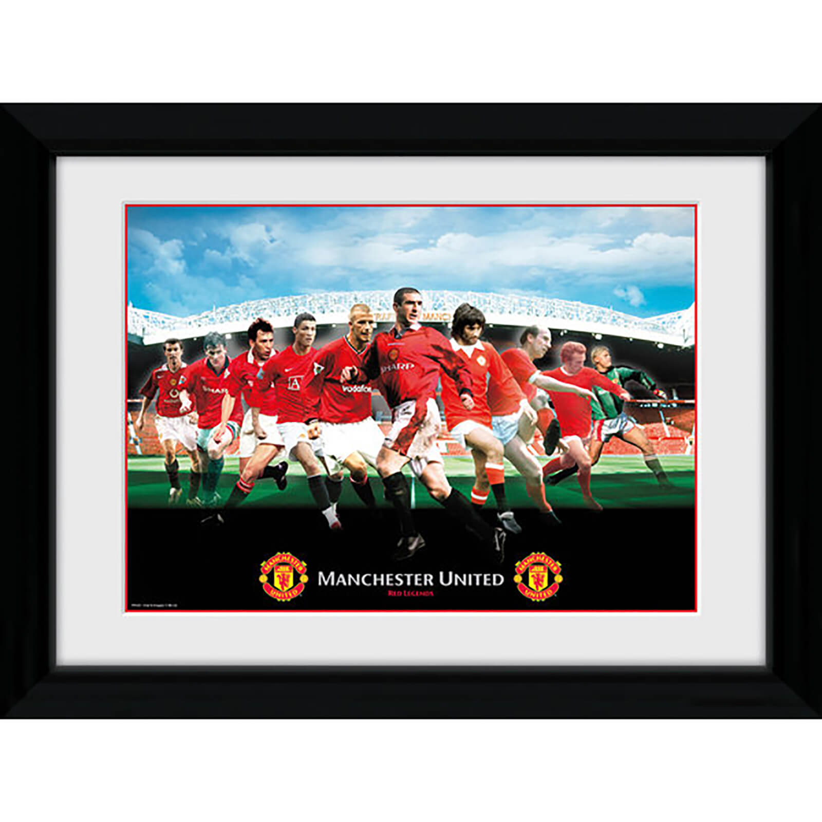 Manchester United Legends Framed Photograph 8 x 6 Inch
