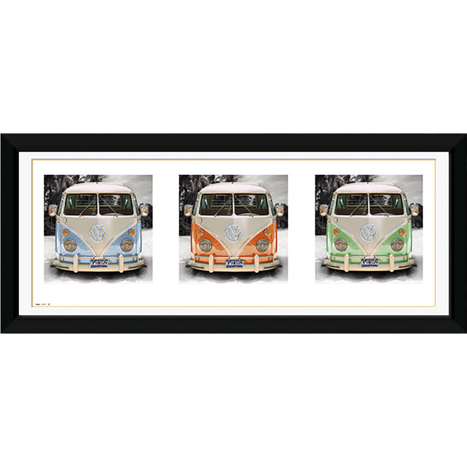 "VW Californian Camper Triptych - 30"""" x 12"""" Framed Photographic"