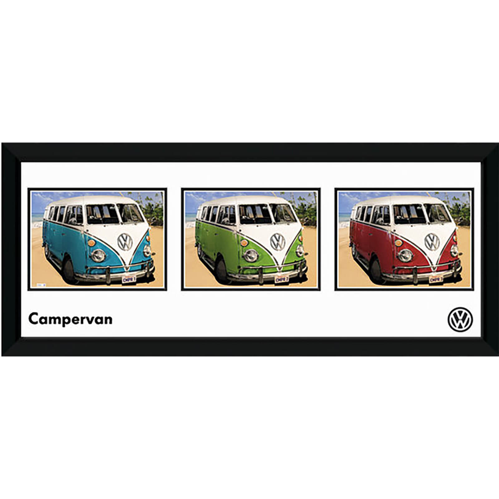 "VW Californian Camper Storyboard - 30"""" x 12"""" Framed Photographic"