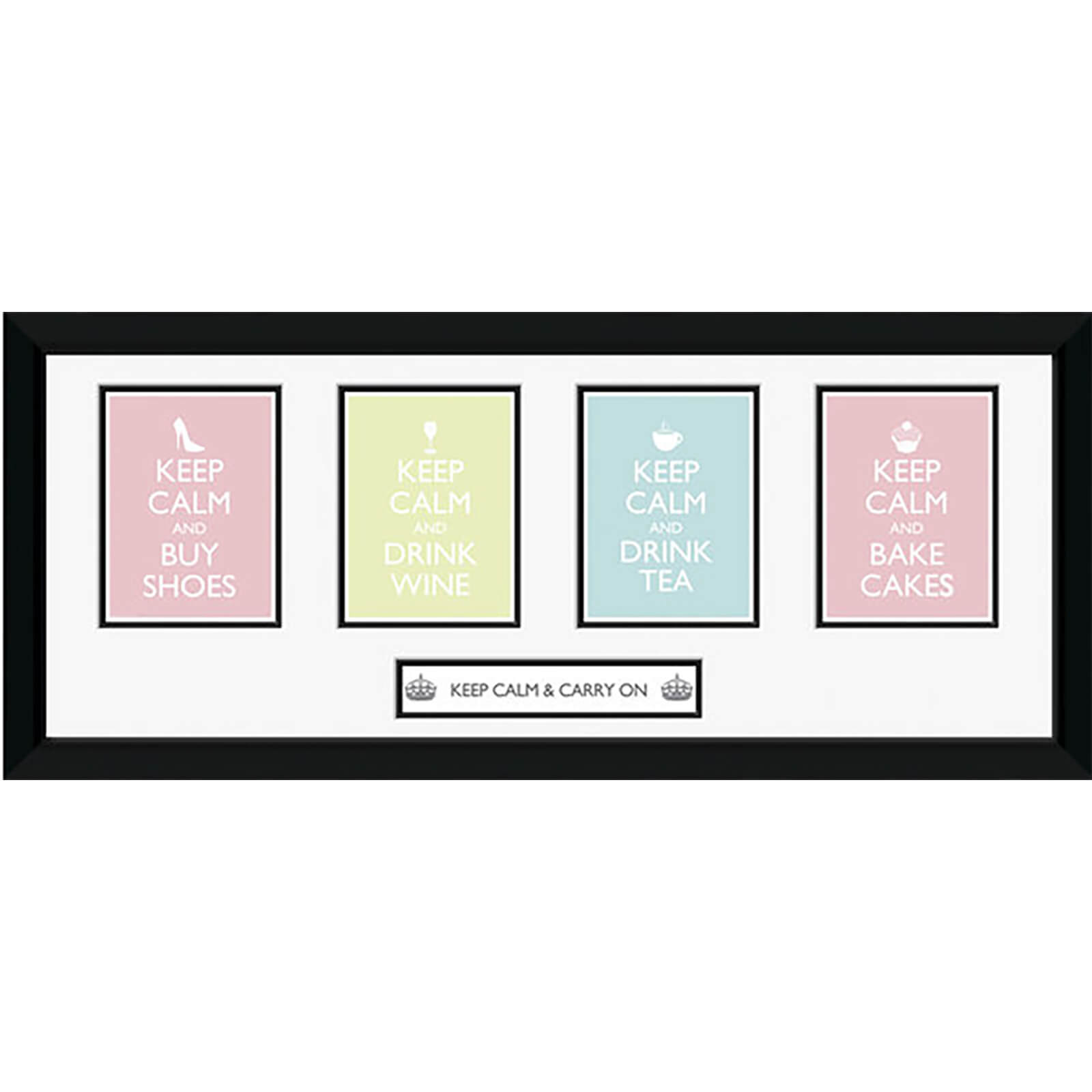 "Keep Calm Girls - 30"""" x 12"""" Framed Photographic"
