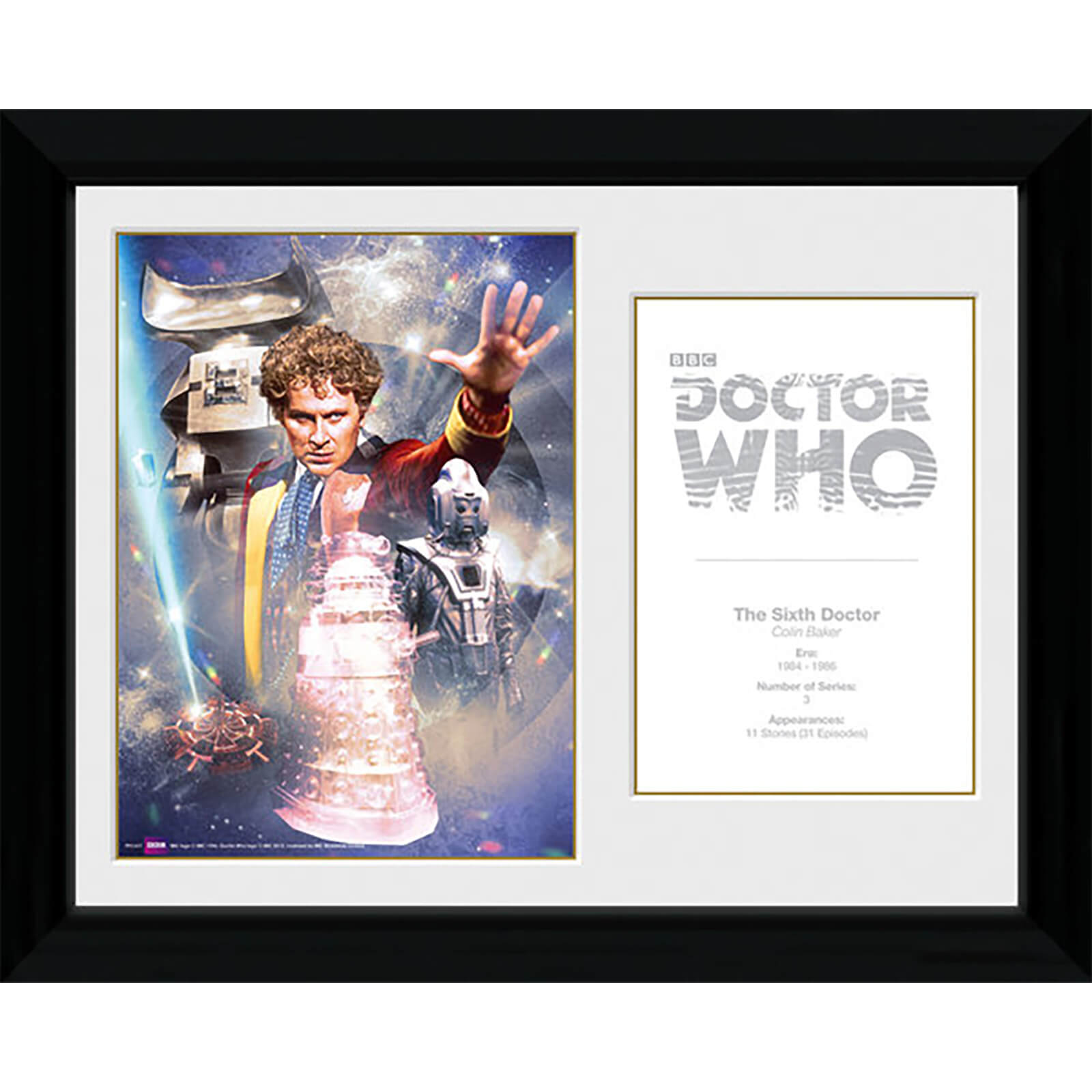 Doctor Who 6th Doctor Colin Baker - 30 x 40cm Collector Prints
