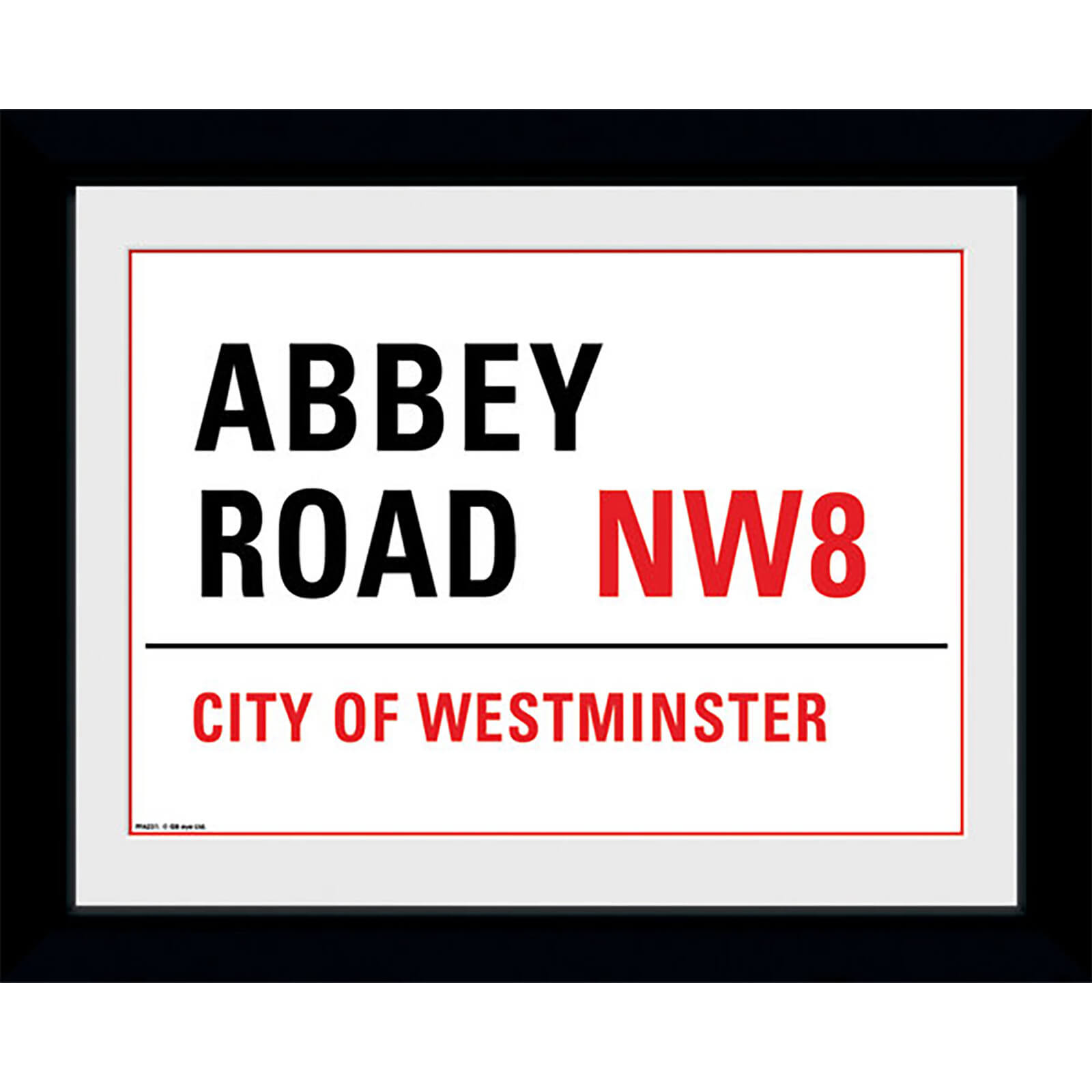 "Abbey Road - 8"""" x 6"""" Framed Photographic"