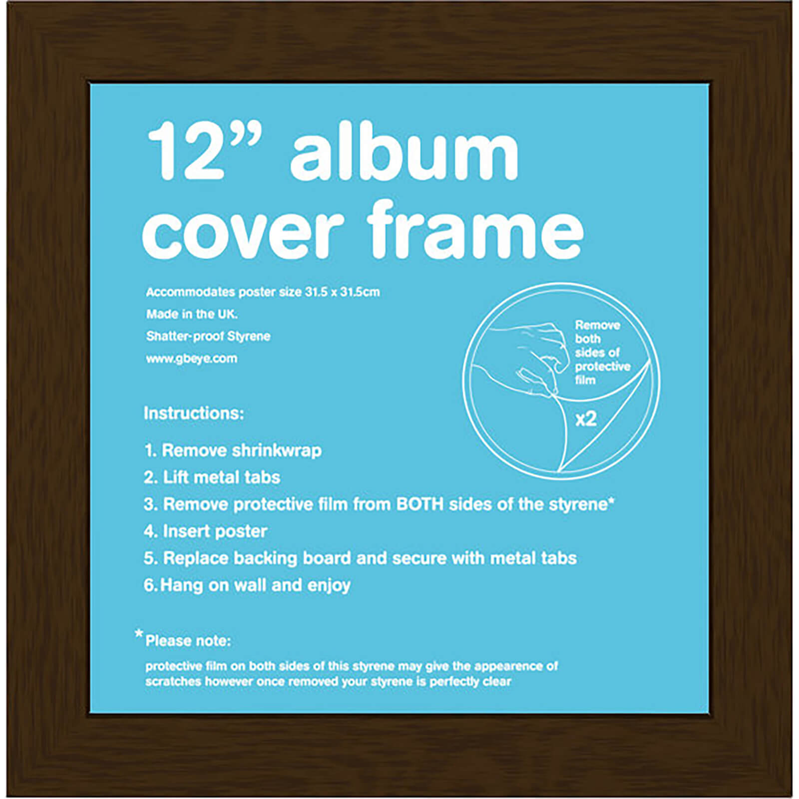 "Walnut Frame Album - 12"""" x 12"""