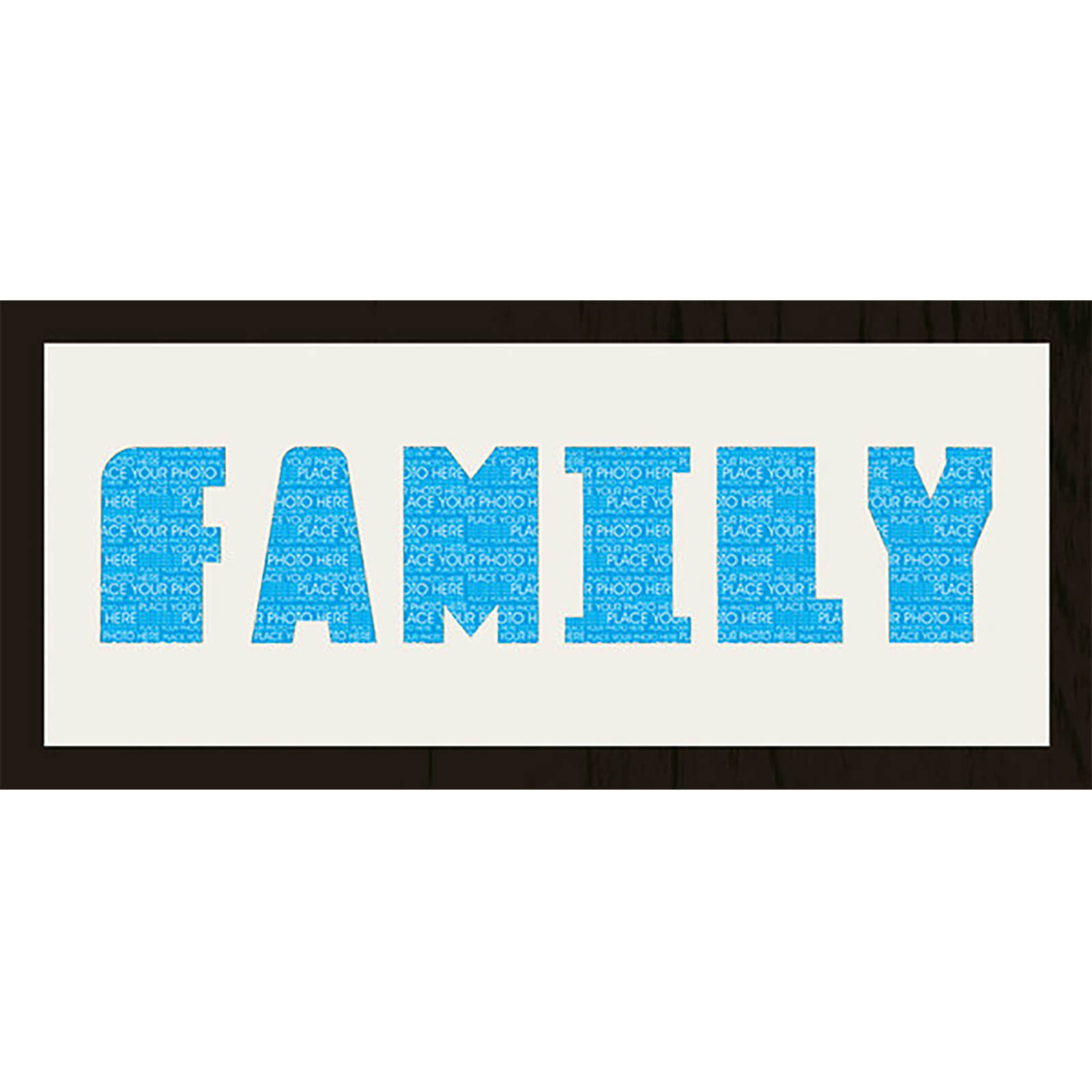 "GB Cream Mount Family Photo Font - Framed Mount - 12"""" x 30"""