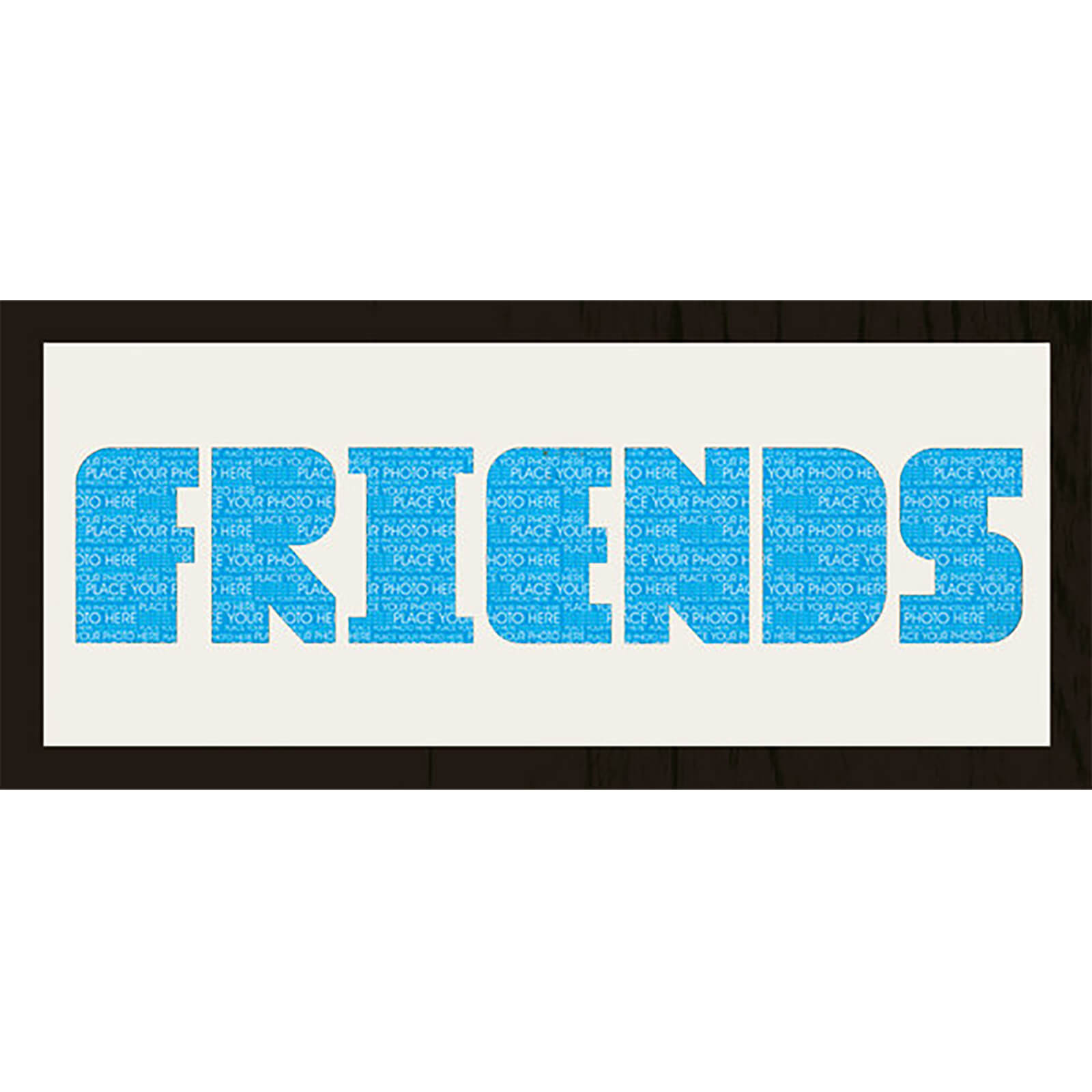 "GB Cream Mount Friends Photo Font - Framed Mount - 12"""" x 30"""