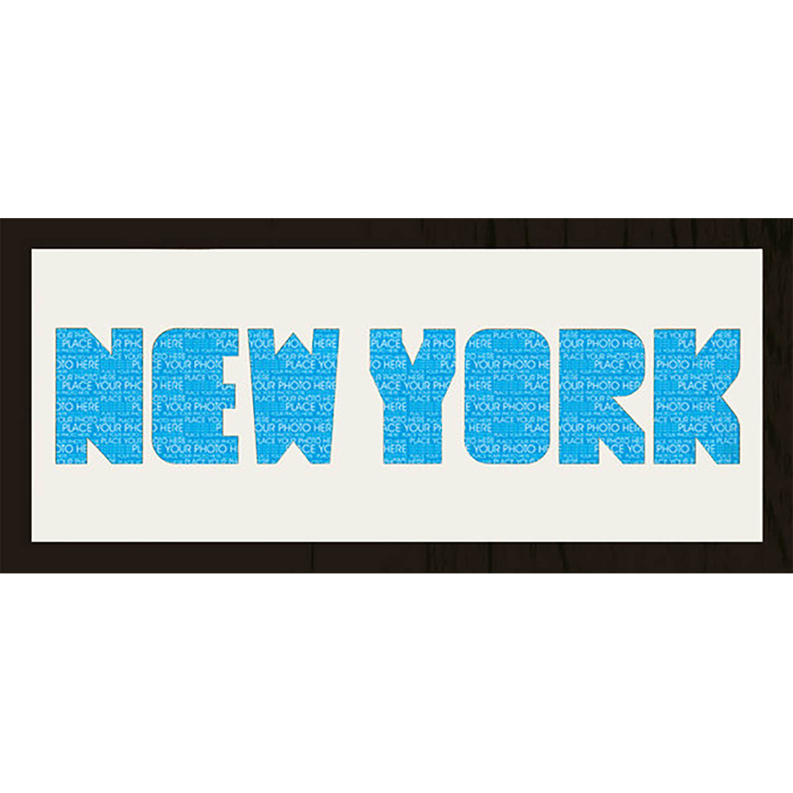 "GB Cream Mount New York Photo Font - Framed Mount - 12"""" x 30"""