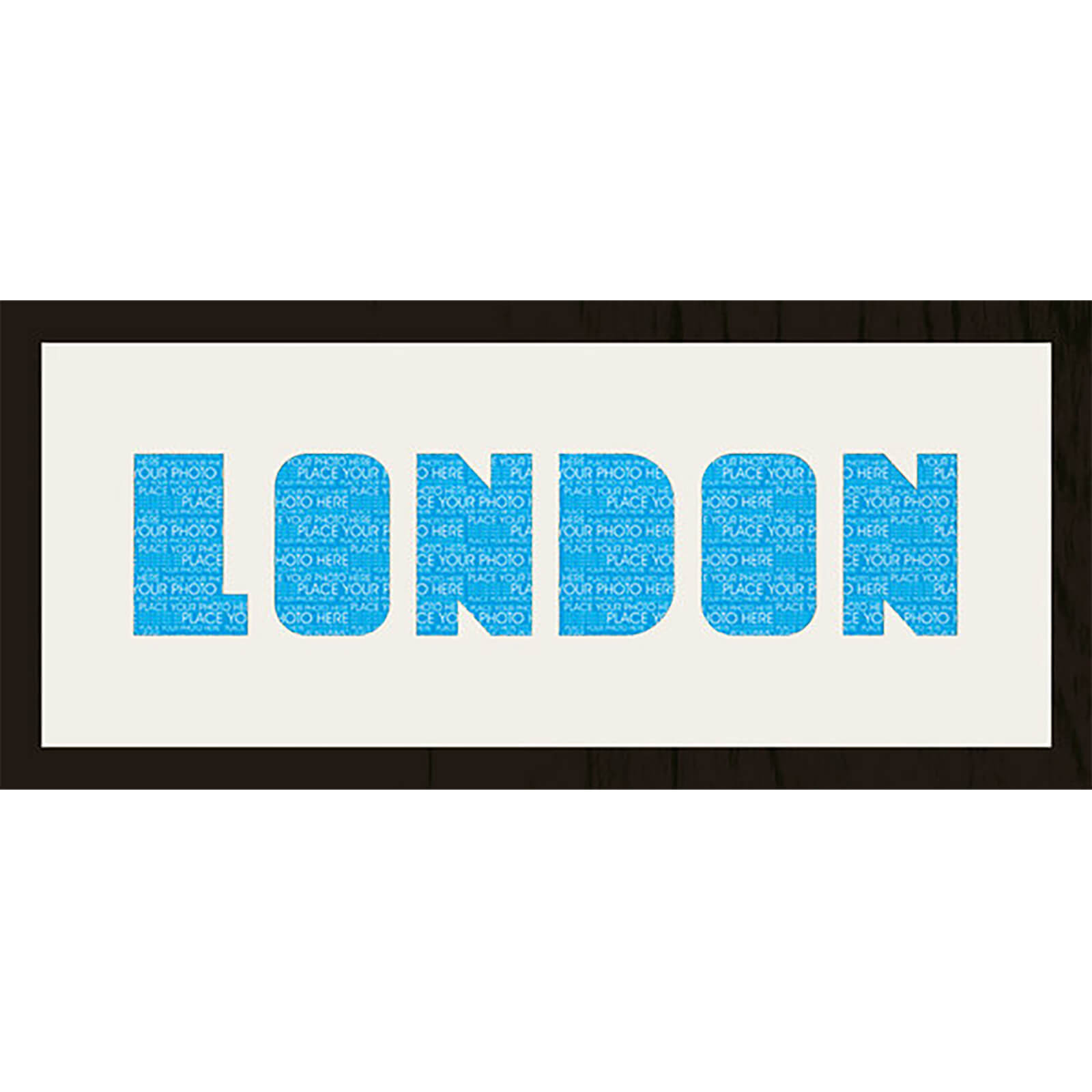 "GB Cream Mount London Photo Font - Framed Mount - 12"""" x 30"""