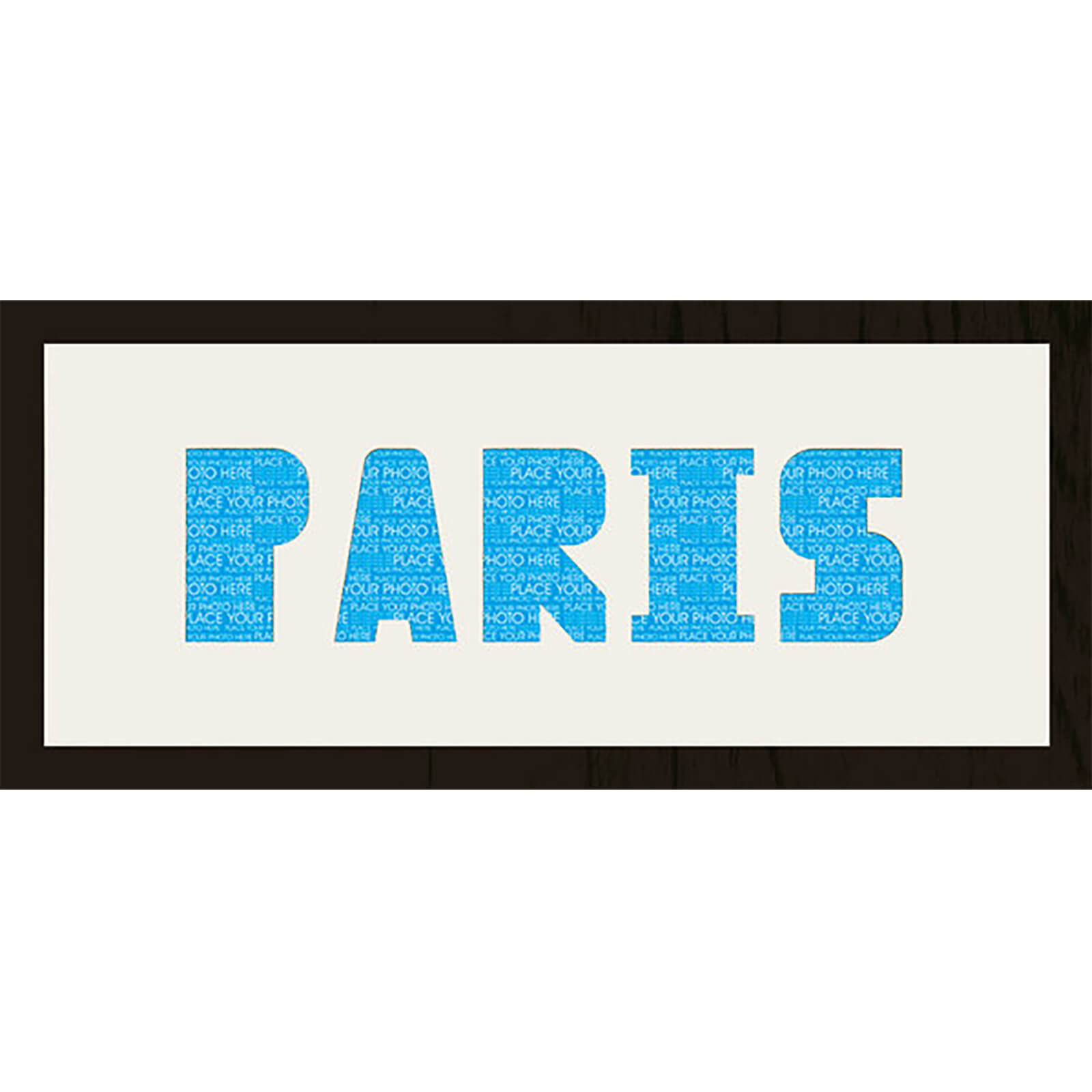 "GB Cream Mount Paris Photo Font - Framed Mount - 12"""" x 30"""
