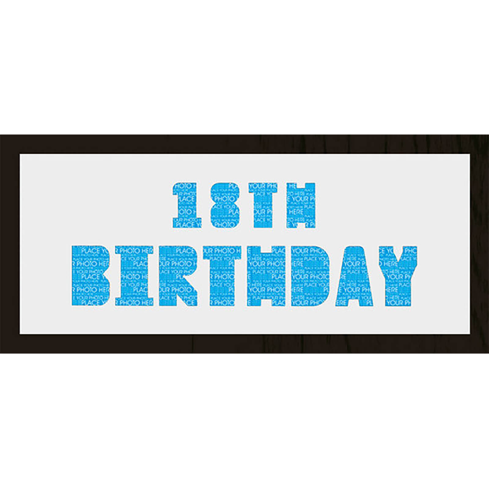 "GB Cream Mount 18th Birthday Photo Font - Framed Mount - 12"""" x 30"""