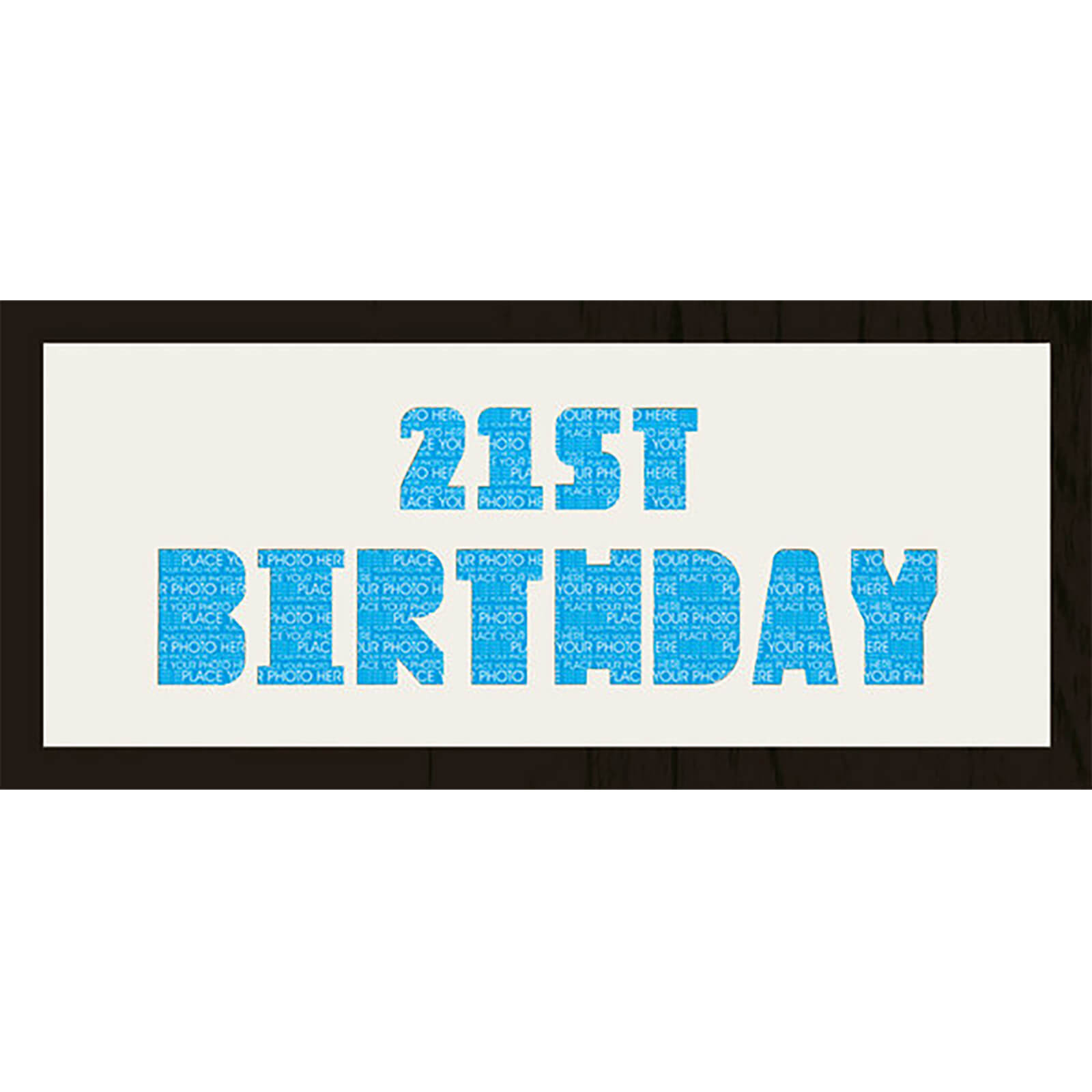 "GB Cream Mount 21st Birthday Photo Font - Framed Mount - 12"""" x 30"""